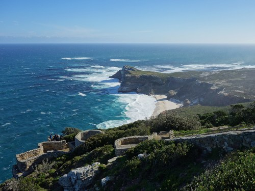 Breathtaking view from the lighthouse at Cape Point