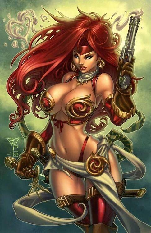 ArtWork : Red Scarlet, la pirate Rousse