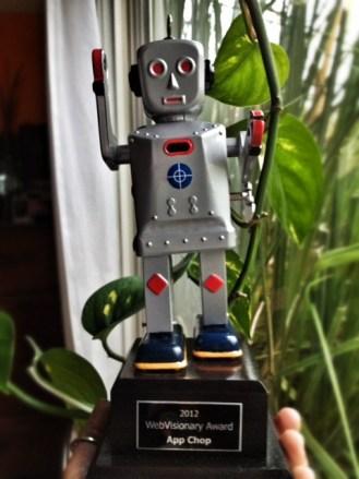 Webvisionary Award Trophy
