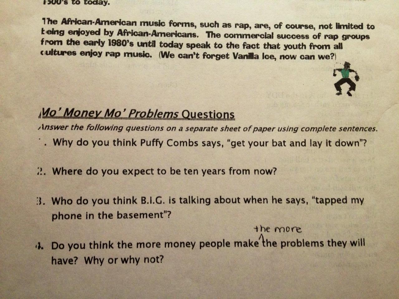 9th Grade Homework A Written Essay