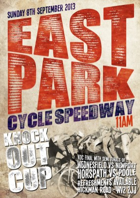 East Park Knock Out Cup Poster