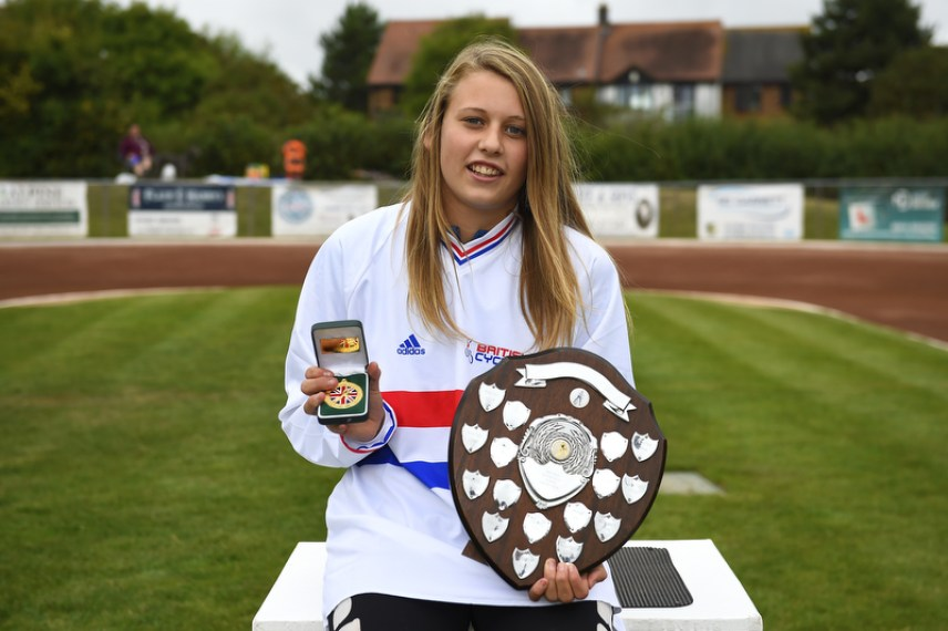 Macie Schmidt was crowned British U16 Girls champion in August. Photo by Denis Murphy.