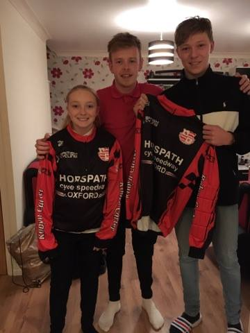 Alice and Jake Neighbour pictured with team manager, Zac Payne (centre)