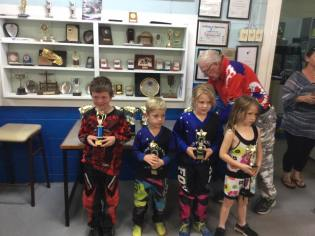Under 7: L-R Dylan Miller, Kahill MacDonald, Caitlen Knights, Katie Ray