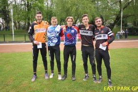 (L-R) Ed Morton (1st), Fraser Garnett (5th), Pierce Bacon (4th), Carl Parfitt (3rd), Brandon Whetton (2nd). Photo by Paul Devine.