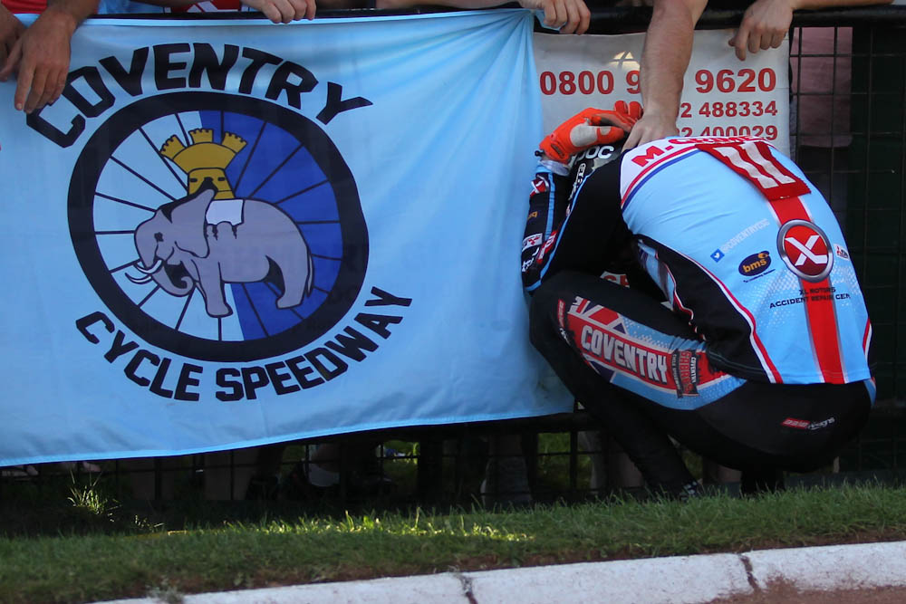 TV: Myke Grimes and Coventry Cycle Speedway featured on Midlands Today this evening
