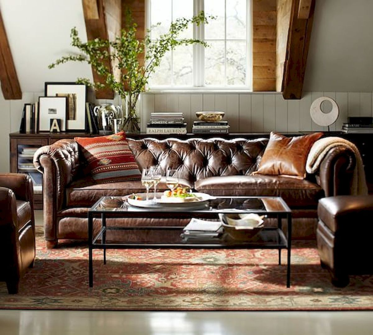 33 Best Industrial Living Room Ideas (27)