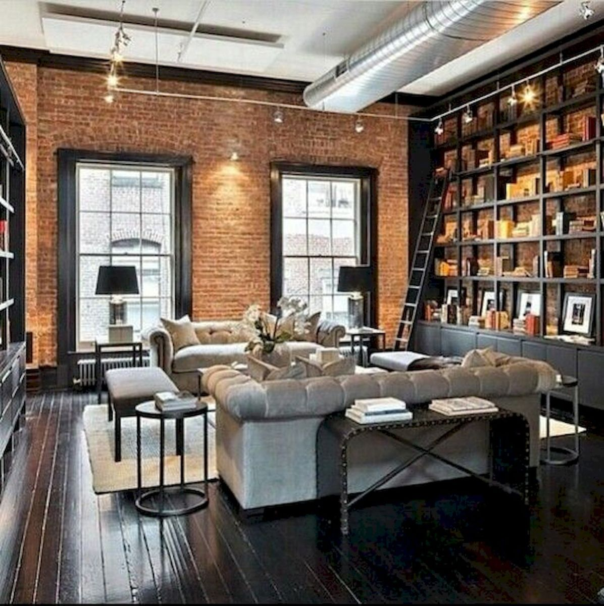 33 Best Industrial Living Room Ideas (33)