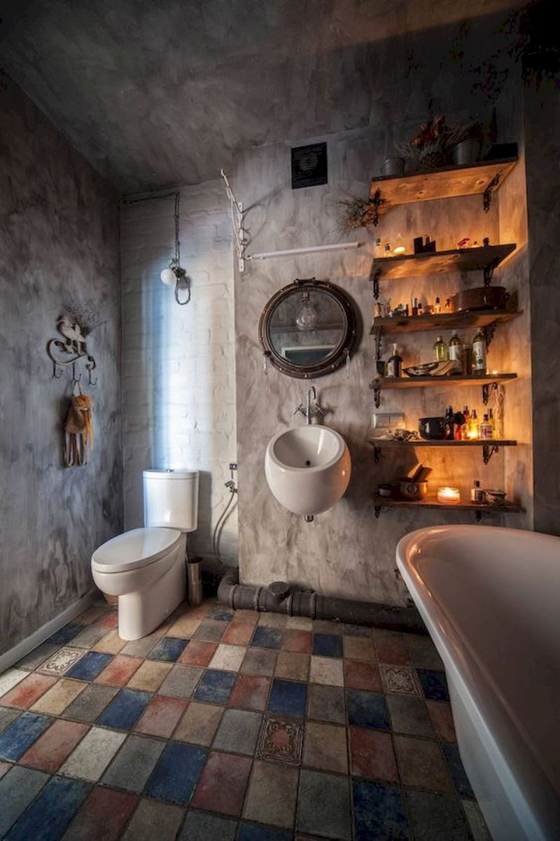 33 Best Industrial Style Bathrooms Ideas (2)