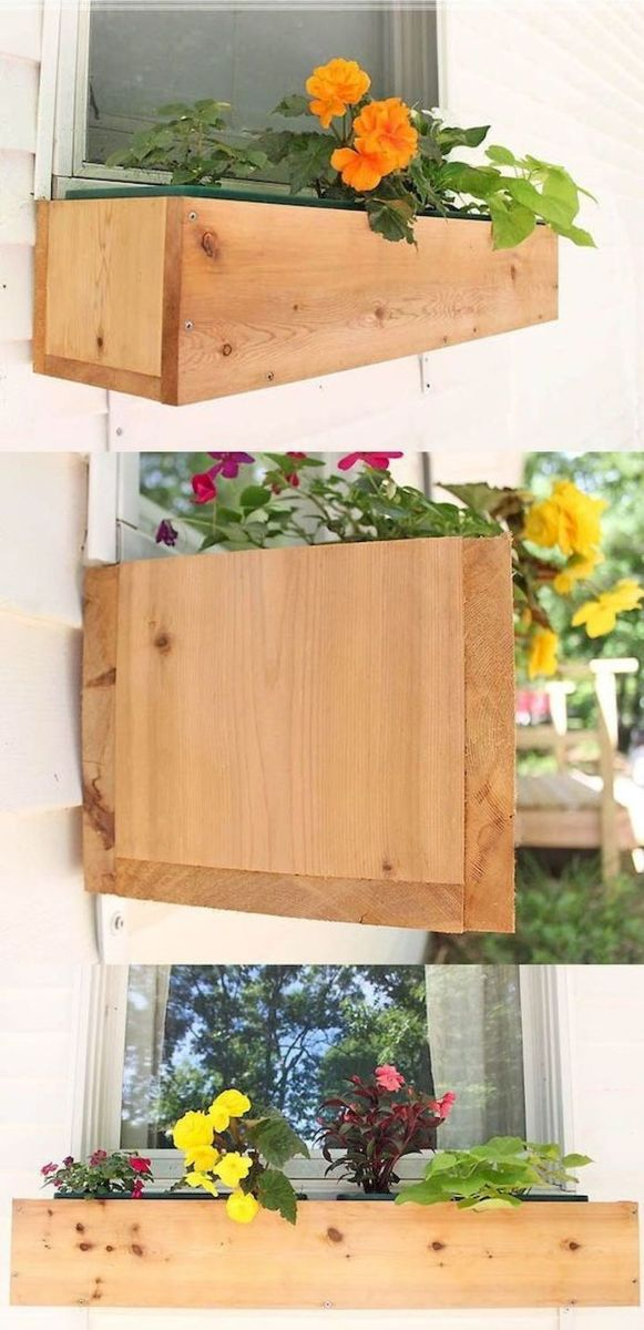 33 Best DIY Flowers Boxes Ideas (1)