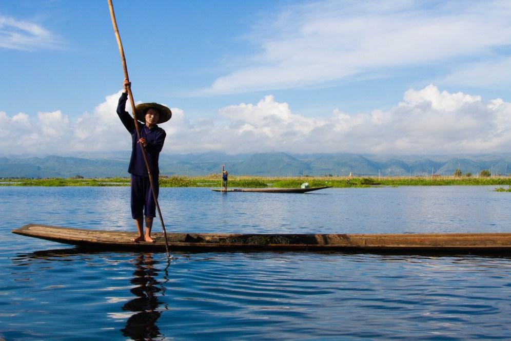 pêcheur, lac inlé, lac Sankar, Nyaung Shwe