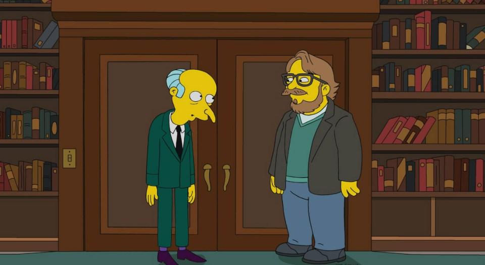 Guillermo del toro llega a Los Simpsons