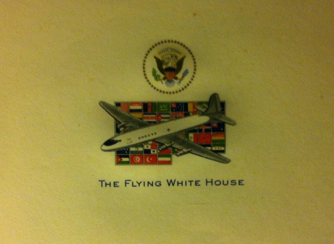 My Grandpa Doug designed this letterhead for Air Force One ... before it was Air Force One.