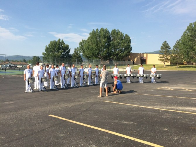The Battalion and Madison Scouts Exhibition - June 21, 2016 - Madison Scouts Drumline In The Lot
