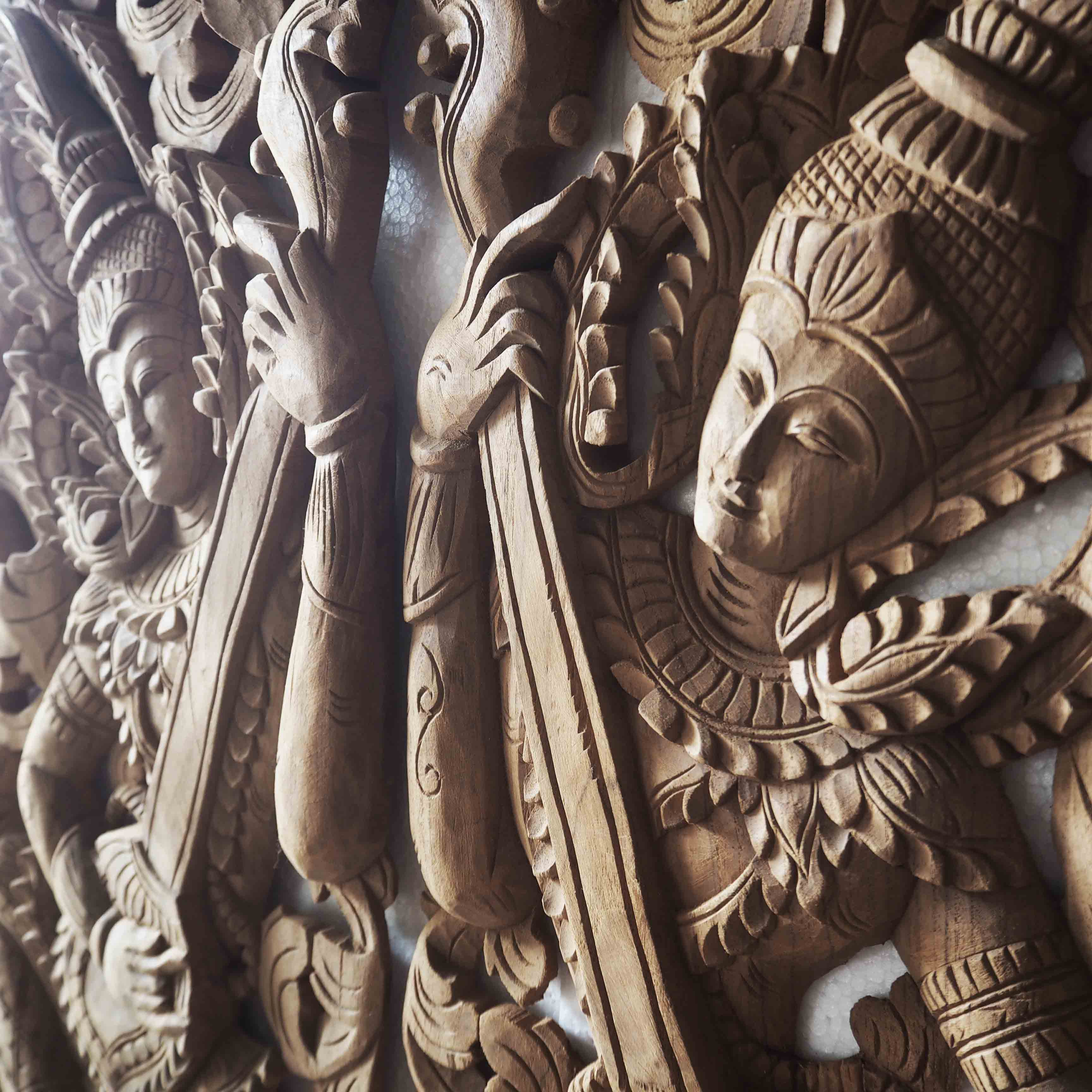 Buy Pair Of Wooden Wall Art Panel From Thailand Online