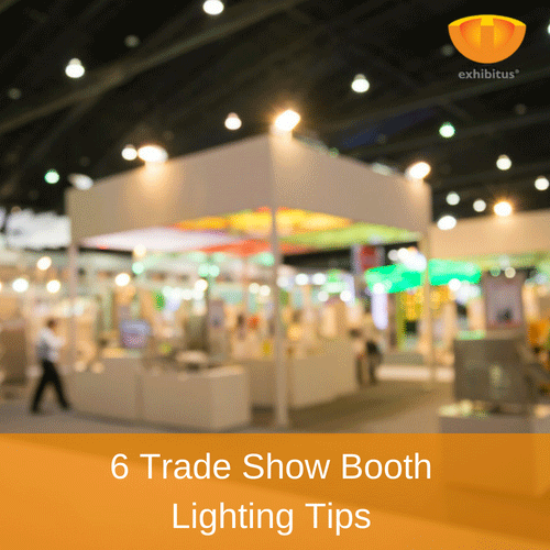6 trade show booth lighting tips
