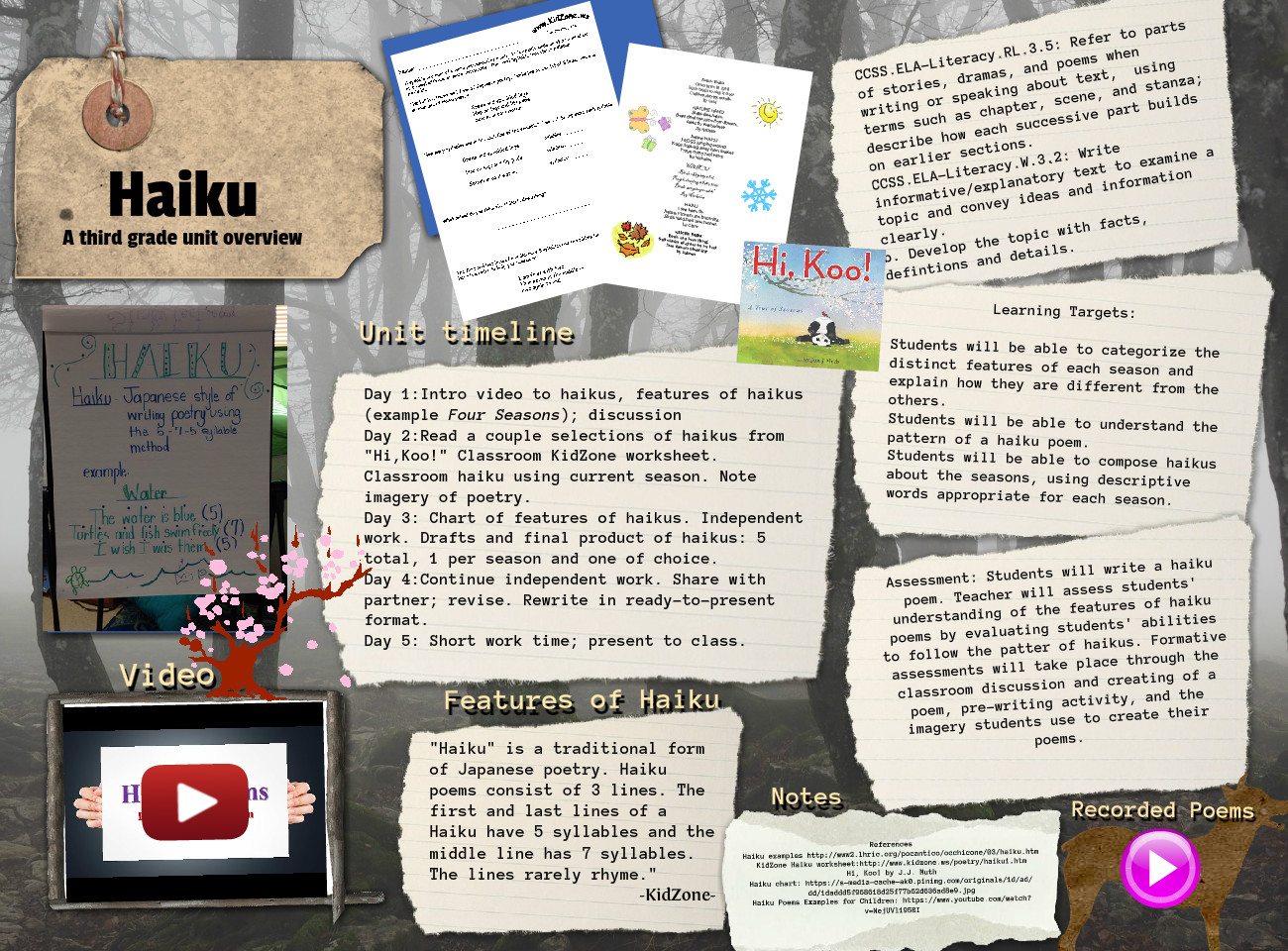 Haiku Poems Unit Overview Text Images Music Video