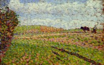 Working at Eragny. Camille Pissarro. c.1886
