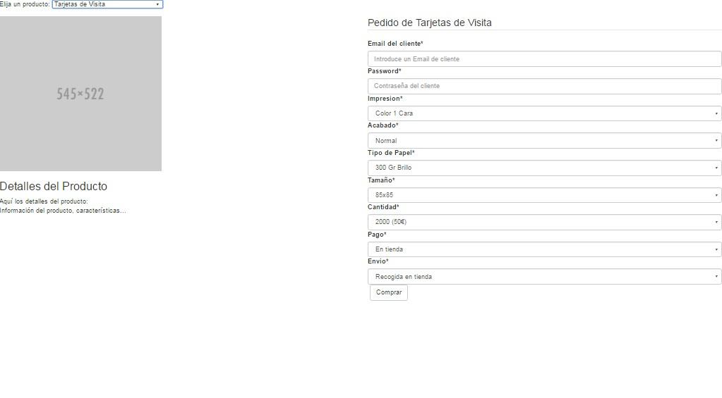 Mostrar formularios distintos segun opcion elegida
