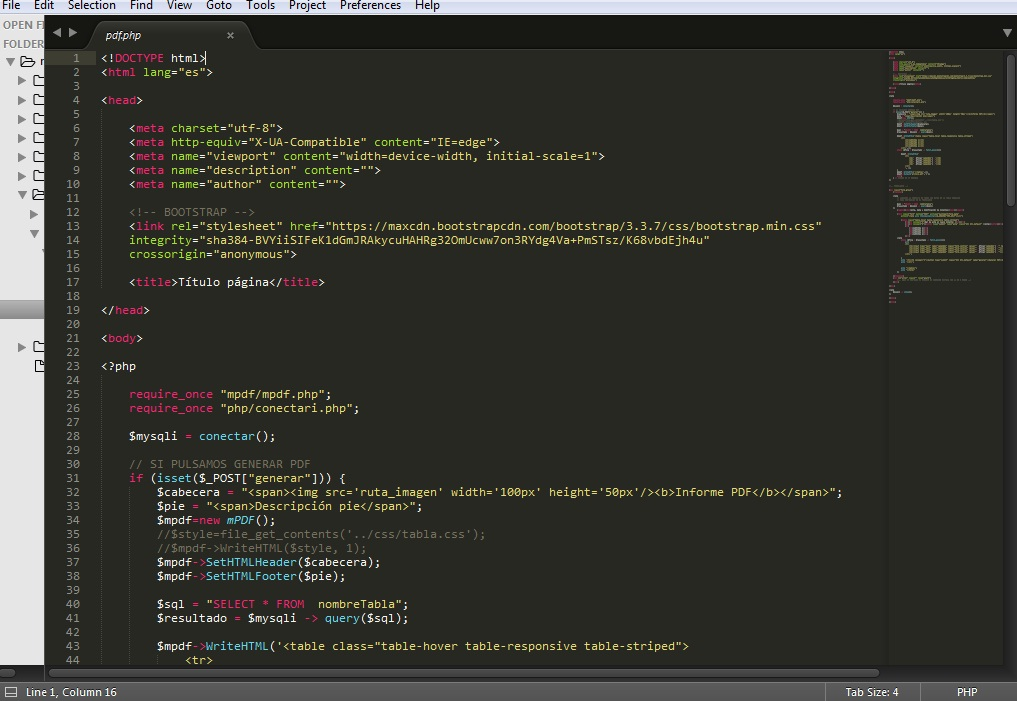 Generar PDF con PHP