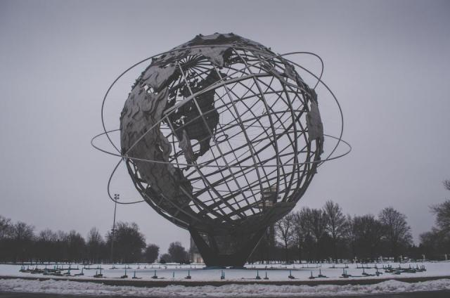 metal globe sculpture calls to mind the brave new world that is the future of the contact center