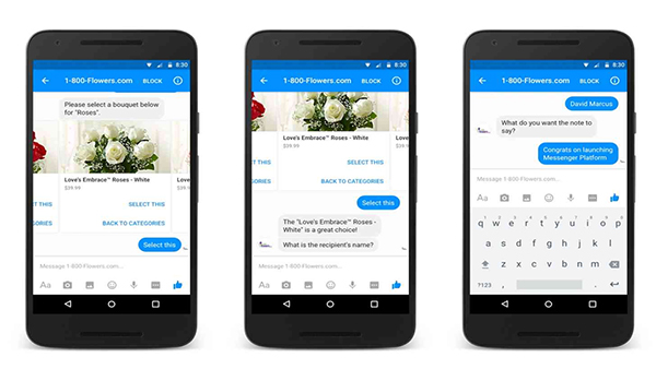 bots for customer communication with 1800 flowers