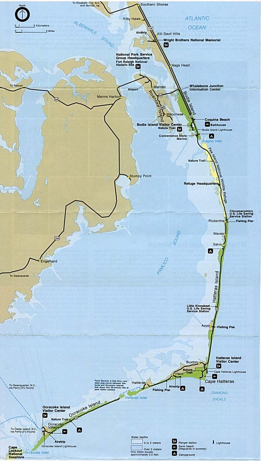 Map of North Carolina's Outer Banks