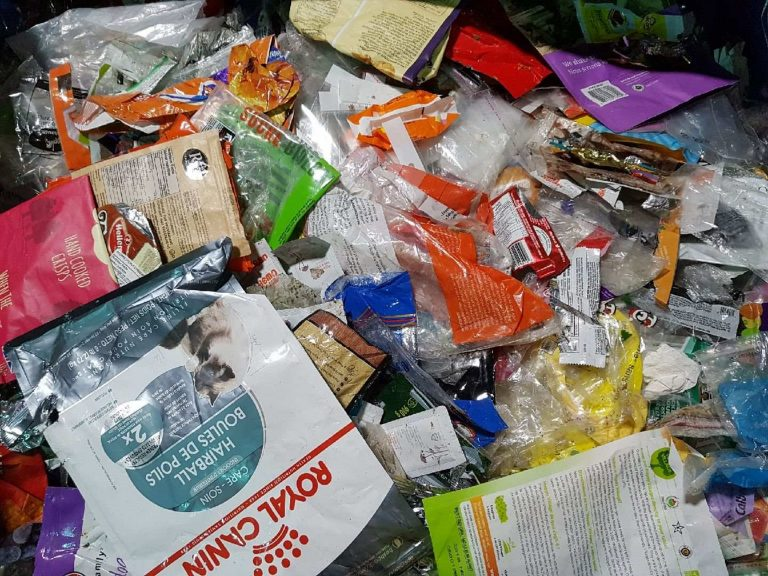 Image of discarded flexible packaging