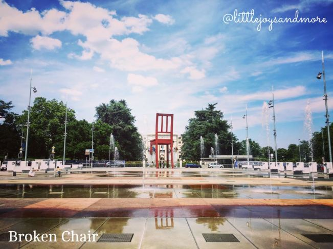 Broken Chair, United Nations Geneva