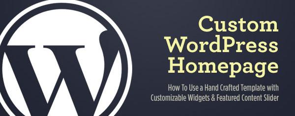 Custom WordPress Homepage with Customizable Widgets