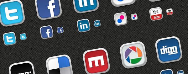 Freebie! 30 Fresh Social Media Icons