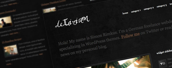 deLirium: A Personal Blog WordPress Theme