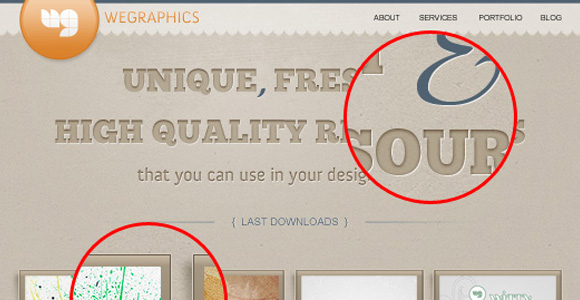 How to create a distinguishable textured web layout in Photoshop
