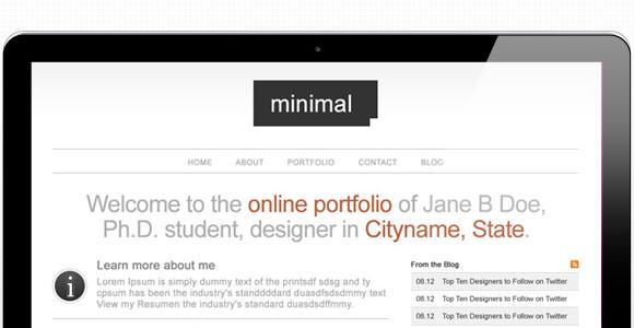 Create A Minimal Portfolio Site Design
