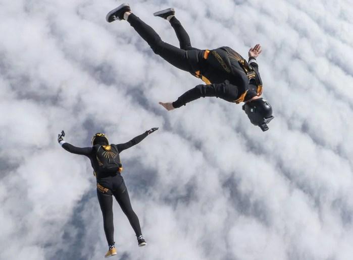 Swiss skydiving team during training in Empuriabrava