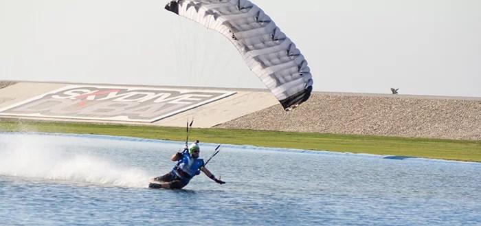 skydiving water landing
