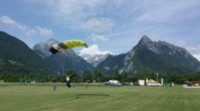 Skydive Bovec Canopy landing