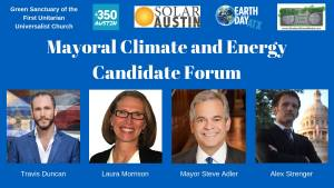 Mayoral Climate and Energy Candidate Forum @ First Unitarian Universalist Church of Austin | Austin | Texas | United States