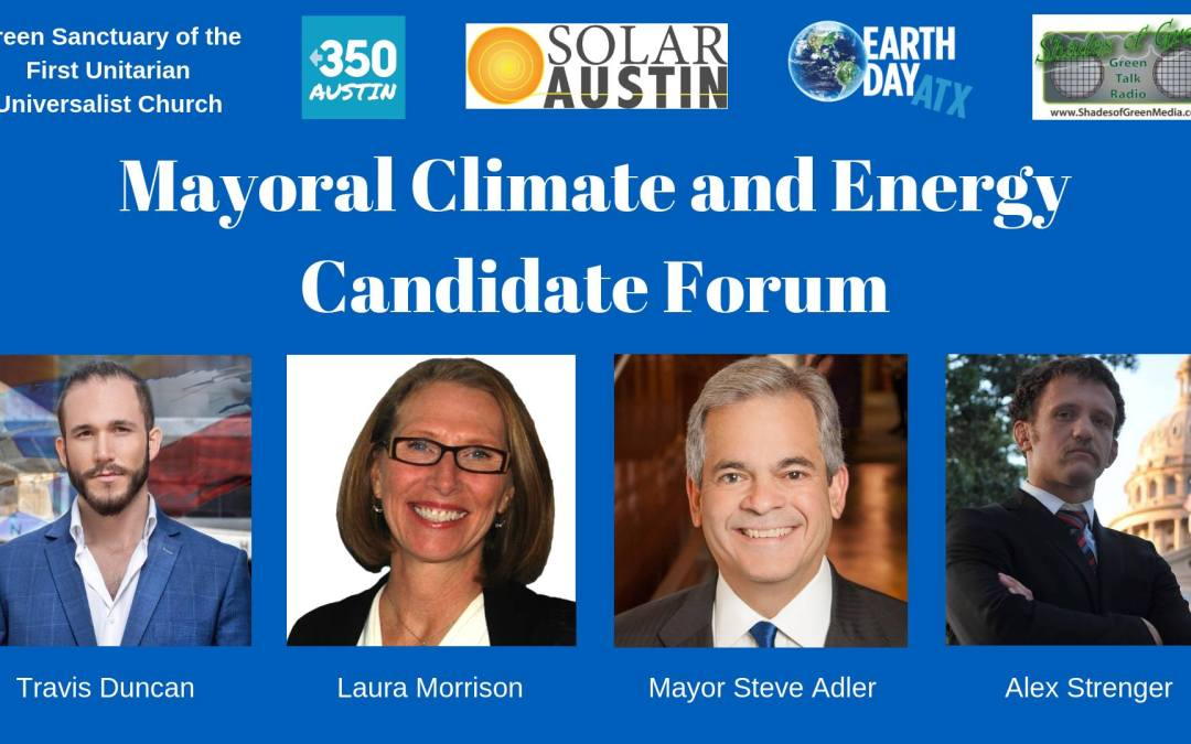 Austin Mayoral Candidate Questionnaire on Climate & Energy