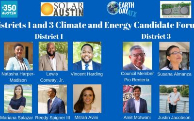 Candidate Questionnaire on Climate & Energy – Austin City Council Districts 1 & 3