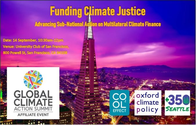 Ad for Funding Climate Justice Event