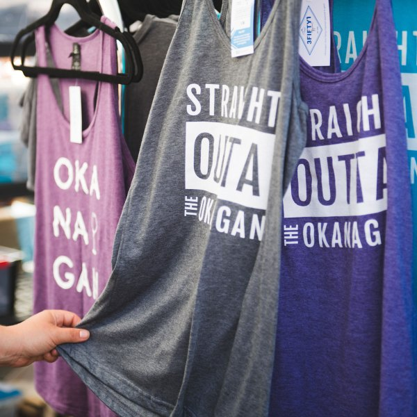 Straight Outta the Okanagan Ladies Slim-fit Tank | 351 Apparel