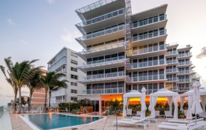 Outside View of 3550 South Ocean Condominiums