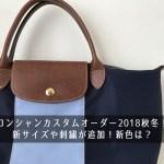 ロンシャンカスタムオーダー2018秋冬!新サイズや刺繍が追加!新色は?