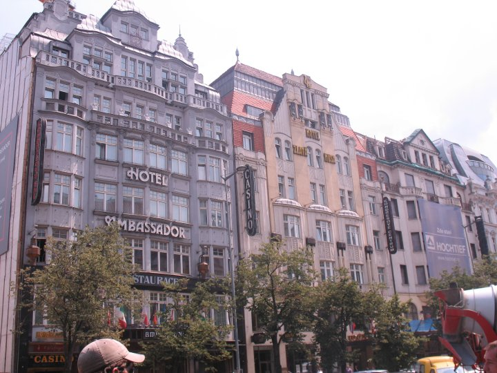 Buildings along Wenceslas Square