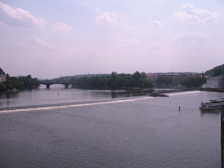 Vltava River, the main waterway flowing through the center of prague