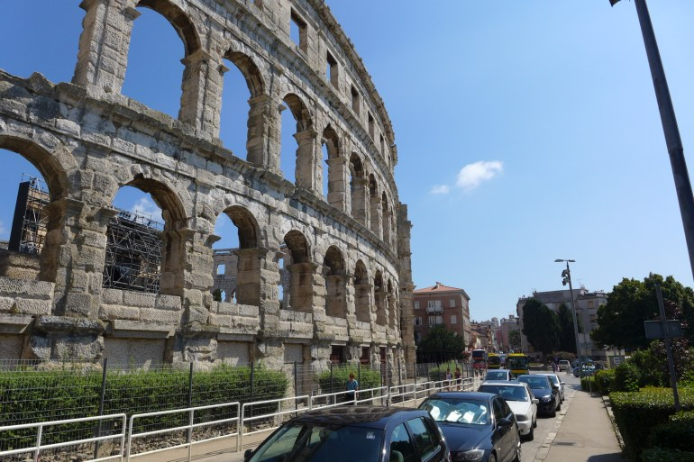 1st century Roman amphitheater, one of the most well-preserved and largest surviving amphitheaters