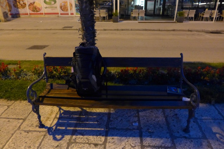 Cozy bench in Zadar..