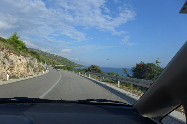 Scenic drive down the coast