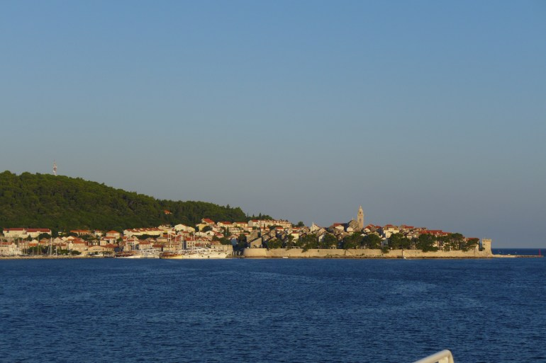 ..and Korčula Town in the distance